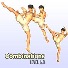 Reverse Roundhouse Jumping Triple Kick