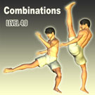 Combination of Left Axe Kick and Right Low Kick